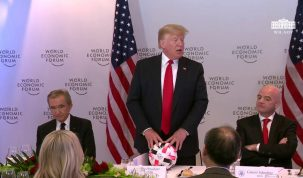President Trump Participates in a Dinner with Global Chief Executive Officers