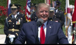 President Trump Participates in a Full Honors Welcome Ceremony for the Secretary of Defense