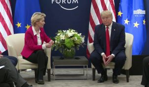 President Trump Participates in a Bilateral Meeting with the President of the European Commission