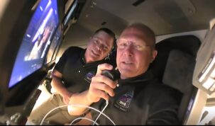Tour from Space: Inside the SpaceX Crew Dragon Spacecraft on Its Way to the Space Station